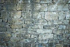 Alte Steinschlosswand Stockfoto