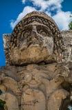 Alte Steinstatue draußen Lizenzfreies Stockbild