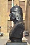 Alte Steinstatue eines ägyptischen Pharaonic Basaltsonnenlichtes blieb Zitadelle Ägyptens Kairo Lizenzfreie Stockfotos