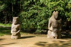 Alte Steinstatue eines scythian Kriegers Lizenzfreies Stockbild