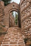 Alte Steintreppe stockfotos