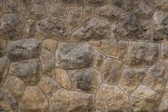 Alte Steinwand als Beschaffenheit oder Hintergrund Alte Außenwand mit großen Felsen lizenzfreies stockbild