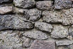 Alte Steinwand Alte Ziegelsteinbeschaffenheit Blockbeschaffenheit Lizenzfreies Stockbild