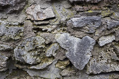 Alte Steinwand Alte Ziegelsteinbeschaffenheit Blockbeschaffenheit Lizenzfreie Stockbilder