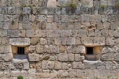 Alte Steinwand der Festung Stockbild