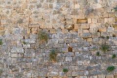 Alte Steinwand der Festung Stockfoto