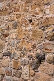 Alte Steinwand Maurerarbeit von alten Steinen und von Ziegelsteinen Schöner Hintergrund Lizenzfreies Stockfoto