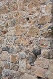 Alte Steinwand Maurerarbeit von alten Steinen und von Ziegelsteinen Schöner Hintergrund Stockbild