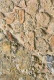Alte Steinwand Maurerarbeit von beige alten Steinen und von Ziegelsteinen Schöner Hintergrund Lizenzfreie Stockfotos