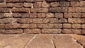 Alte Steinwand und Boden an sukhothai historischem Park Stockbild