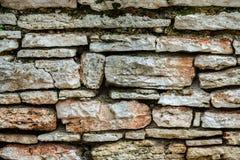 Alte Steinwandnahaufnahme stockfotografie
