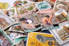 Alte Stempel von Thailand. Stockfoto