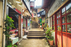 Alte Straße Citang - 25. Juli 2017: Alte Straße Citang ist in Ruifang-Bezirk, neue Taipeh-Stadt, Taiwan ein berühmtes szenisches Stockbild