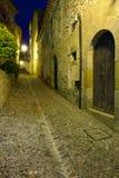 Alte Straße der alten europäischen Stadt Lizenzfreie Stockbilder