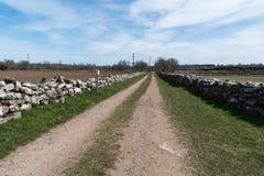 Alte Straße der Landwirte lizenzfreie stockfotos