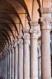 Alte Straße des Bolognas Stadt Stockfoto