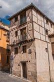 Alte Straße des Viertels der Judentumshäuser, Segovia, Spanien Stockbilder