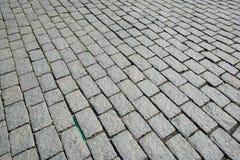 Alte Straße gepflastert Stockbild