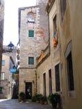 Alte Straße Gironas Stockfotografie