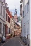 Alte Straße in Heidelberg, Deutschland Lizenzfreie Stockfotografie