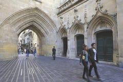 Alte Straße im Bordeaux Lizenzfreies Stockfoto