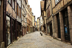 Alte Straße im Rouen Lizenzfreies Stockfoto