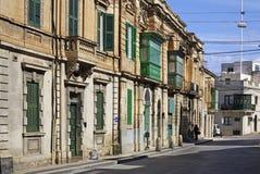 Alte Straße in Mosta malta lizenzfreie stockfotos