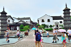 Alte Straße Nanxiang Lizenzfreie Stockbilder