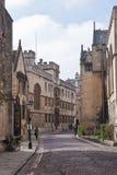 Alte Straße in Oxford, England, Großbritannien Stockfotografie