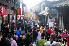 Alte Straße Shanghai Nanxiang Stockfotos