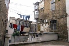 Alte Straße Stadt-Bakus Azerbaijan Stockfoto