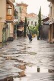 Alte Straße in Tiflis Stockfotografie