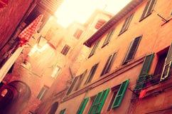 Alte Straße Toscan - Süd europa Italien lizenzfreies stockfoto