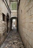 Alte Straße Trogir Stockfotografie