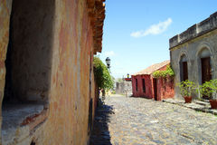 Alte Straße Uruguays stockfotos