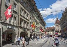 Alte Straße von Bern, Schweizer Stockfotos