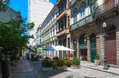 Alte Straße von Centro in Rio de Janeiro Lizenzfreie Stockfotos