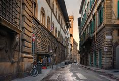 Alte Straße von Prag stockbilder