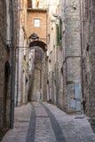 Alte Straße von Todi, Umbrien Stockfotografie