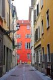 Alte Straßen in der historischen Mitte von Parma Stockbilder