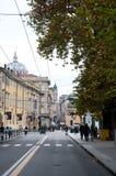 Alte Straßen in der historischen Mitte von Parma Stockfotografie