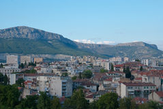 Alte Straßen in der Spalte, Kroatien Lizenzfreies Stockfoto