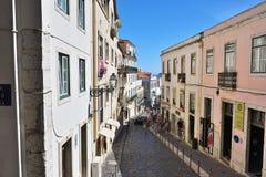 Alte Straßen im historischen Teil von Lissabon Alfama portugal Stockbilder