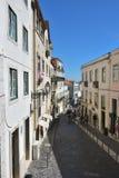 Alte Straßen im historischen Teil von Lissabon Alfama portugal Lizenzfreie Stockfotografie
