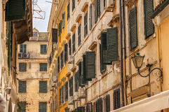Alte Straßen, Korfu-Stadt Lizenzfreies Stockbild
