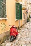 Alte Straßen, Korfu-Stadt Stockfotografie