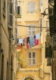 Alte Straßen, Korfu-Stadt Lizenzfreie Stockbilder