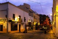 Alte Straßen in Mérida in der Dämmerung Stockfotografie