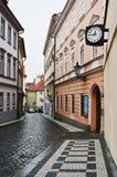 Alte Straßen von Prag Stockbilder