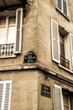 Alte Straßenecke in Montmartre, Paris Lizenzfreies Stockfoto